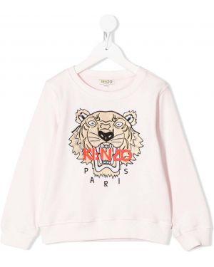 Bluza z haftem różowy Kenzo Kids