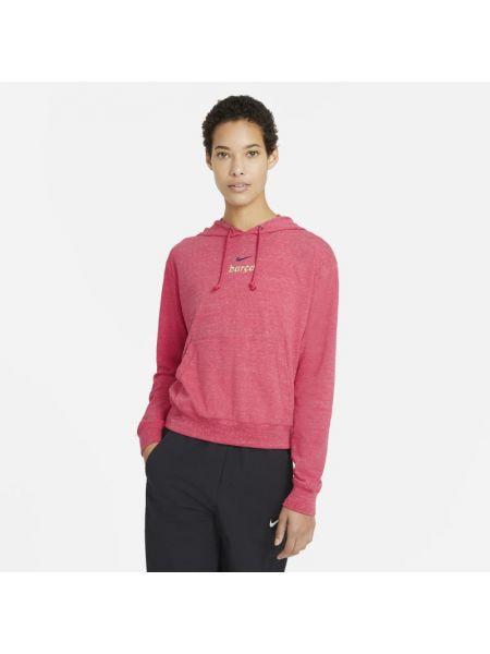 Czerwony bluzka z kapturem zabytkowe Nike