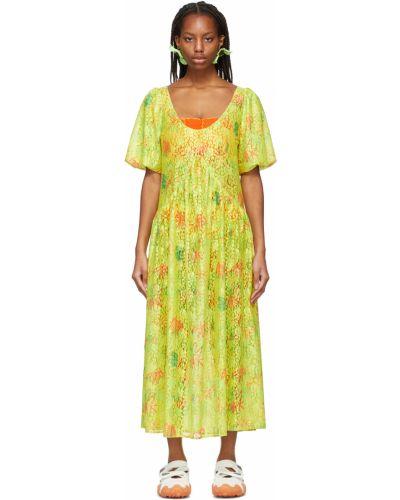 Sukienka koronkowa - żółta Collina Strada