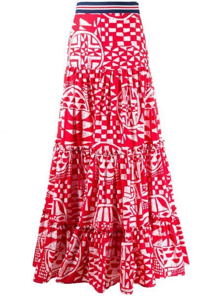 Spódnica maxi z nadrukiem z wysokim stanem Stella Jean