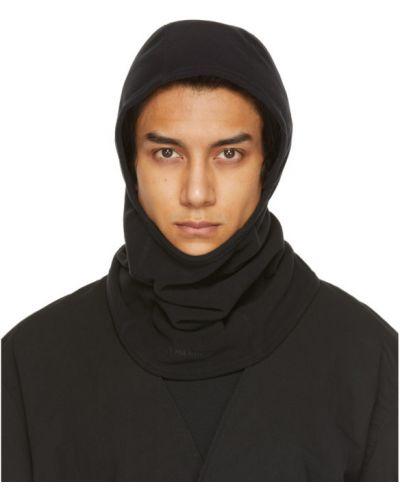 Флисовая черная балаклава с вышивкой Nonnative
