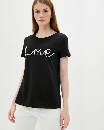 Черная футболка с короткими рукавами Lc Waikiki