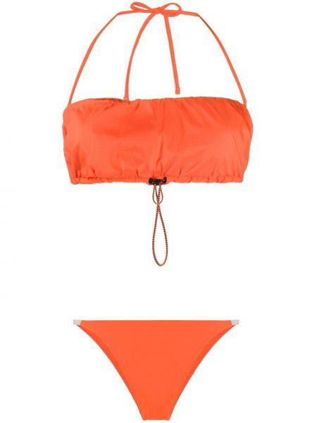 С кулиской оранжевые бикини с завязками Heron Preston
