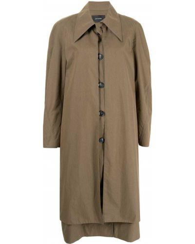 Коричневое нейлоновое пальто Low Classic