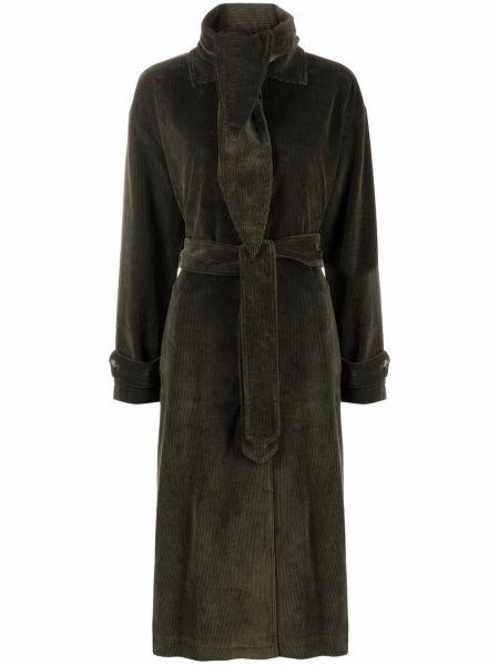 Зеленое приталенное пальто Semicouture