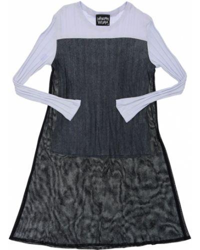 Fioletowy t-shirt bawełniany z siateczką Infantium Victoria