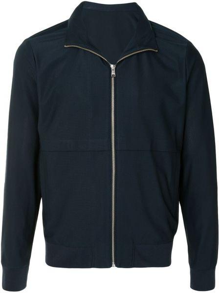 С рукавами синяя облегченная длинная куртка с манжетами D'urban