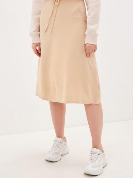 Платье бежевое широкое Sela