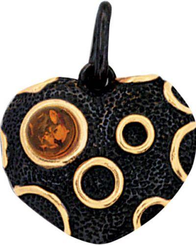 Золотая подвеска серебряный золотой балтийское золото