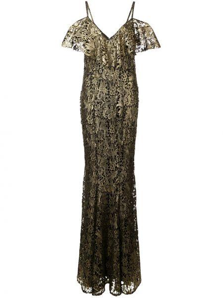 Платье с открытыми плечами - черное Zac Zac Posen