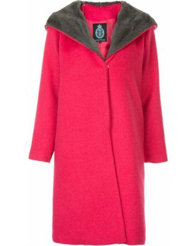 Розовое длинное пальто с капюшоном Guild Prime