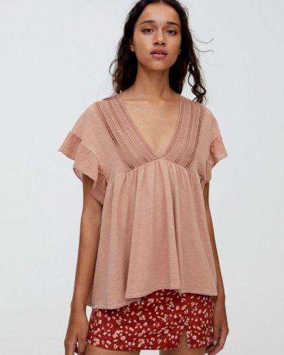 Блузка с коротким рукавом розовая Pull&bear