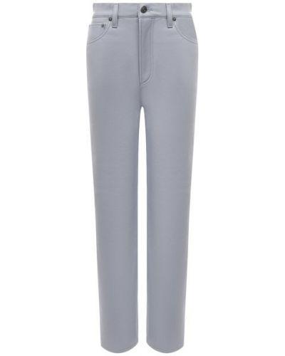 Кожаные синие брюки с подкладкой Agolde