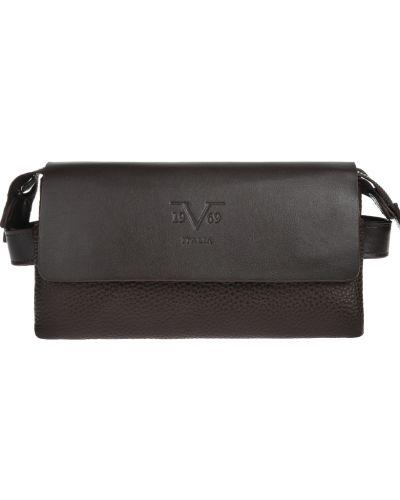 Коричневая барсетка на молнии Versace 19.69