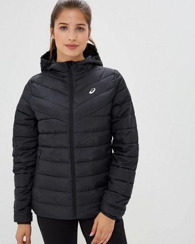Утепленная куртка демисезонная черная Asics