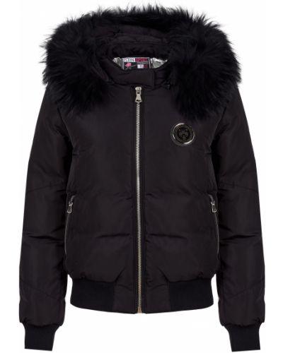 Кожаная куртка из полиэстера - черная Plein Sport