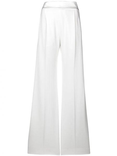 Шелковые брюки - белые Alberta Ferretti