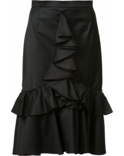 Черная юбка с оборками Tome