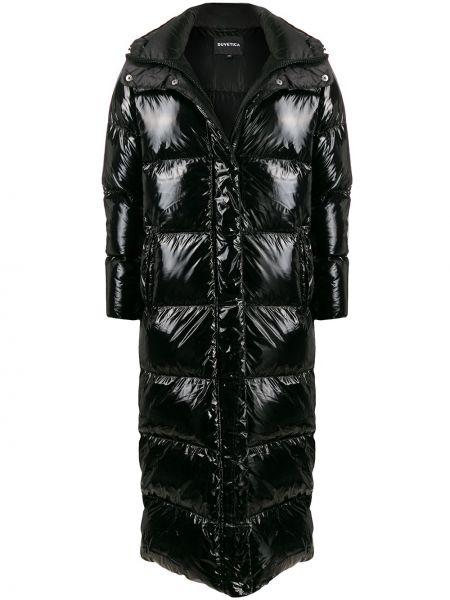 Пальто с капюшоном айвори на пуговицах Duvetica
