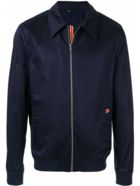 Długa kurtka niebieska z mankietami Gieves & Hawkes