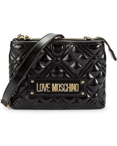 Czarny łańcuszek pikowany Love Moschino