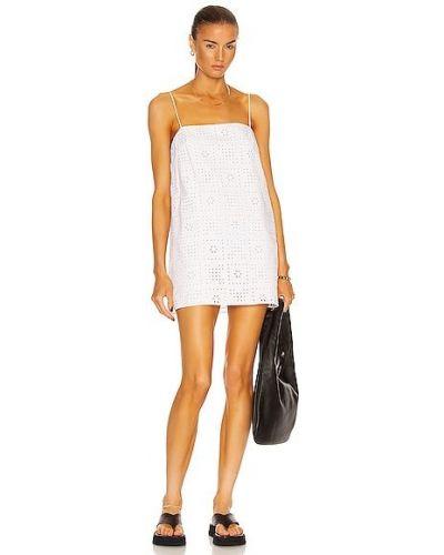 Хлопковое белое платье с подкладкой Matteau