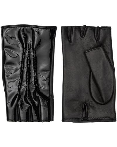 Rękawiczki bez palców - czarne Mario Portolano