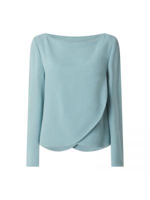 Bluzka z długimi rękawami z wiskozy turkusowa Emporio Armani