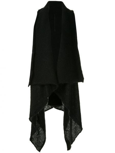 Черная шерстяная жилетка с драпировкой Masnada