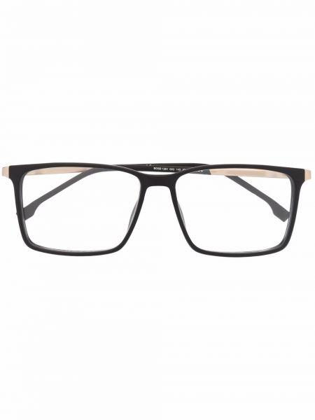 Czarne złote okulary Boss Hugo Boss