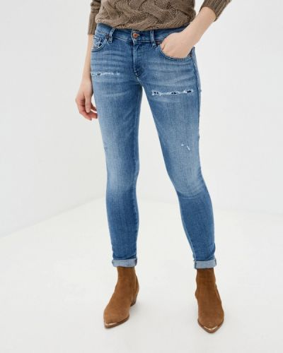 Синие джинсы-скинни узкого кроя Diesel