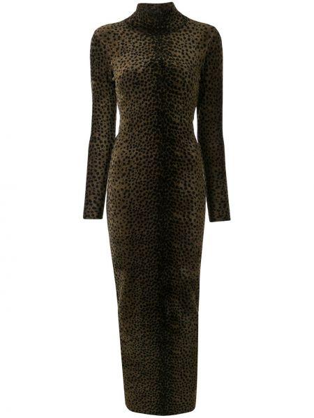 Платье леопардовое с рукавами Alexander Wang