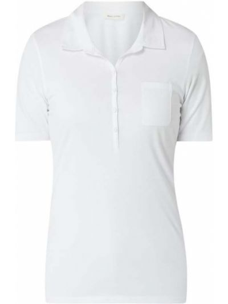 Bawełna bawełna biały t-shirt wąskie cięcie Marc O'polo