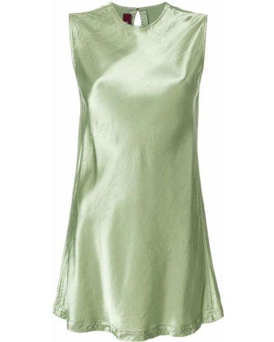Блузка без рукавов зеленый шелковая Sies Marjan