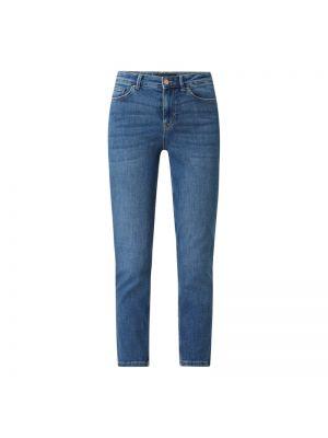 Niebieskie jeansy z wysokim stanem bawełniane Pieces