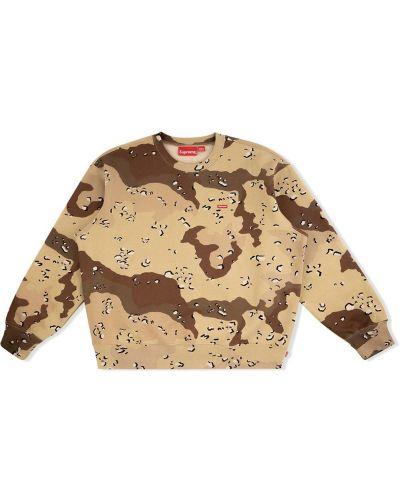 Bawełna brązowy z rękawami bluza Supreme