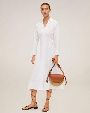 Платье миди на пуговицах классическое Mango
