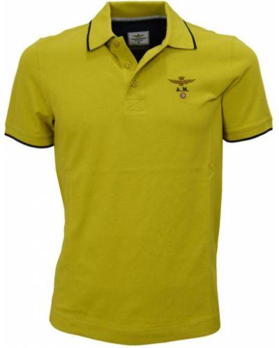 T-shirt bawełniana - zielona Aeronautica Militare