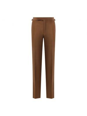 Коричневые шерстяные брюки Tom Ford