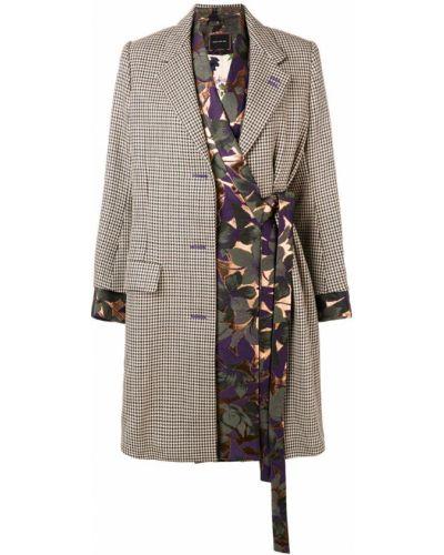 Шерстяное длинное пальто с капюшоном на пуговицах Snow Xue Gao
