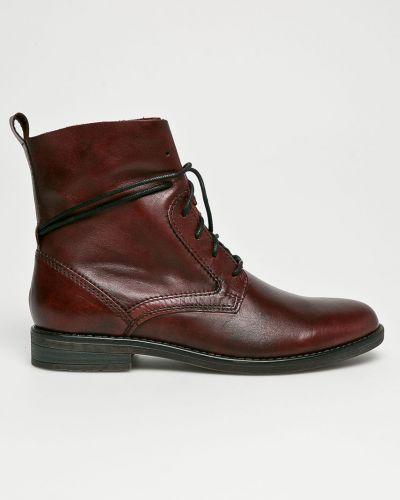 Сапоги на шнуровке кожаные Marco Tozzi