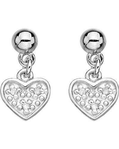 Серебряные серьги с бриллиантом вечерние Hot Diamonds