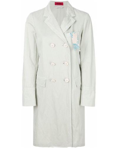 Прямое белое длинное пальто с капюшоном The Gigi