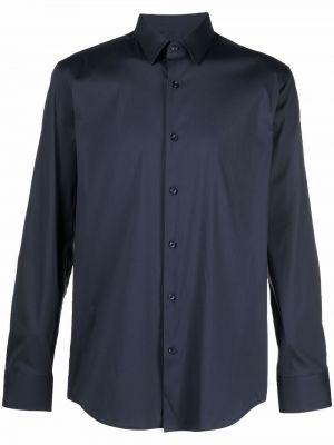 Длинная рубашка - синяя Boss Hugo Boss