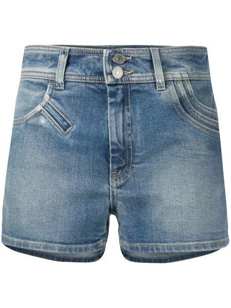 Синие хлопковые джинсовые шорты с карманами Givenchy