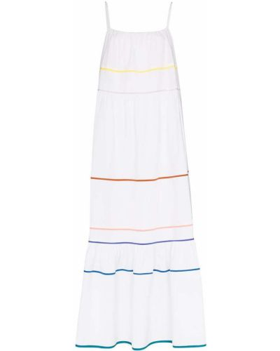 Расклешенное белое платье макси с вырезом Araks