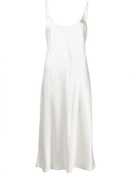 Шелковое платье - белое La Perla