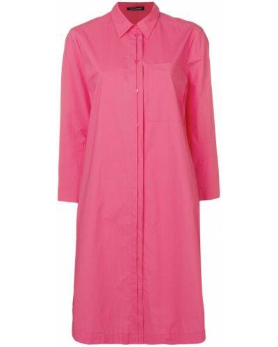 Платье миди классическое - розовое Luisa Cerano