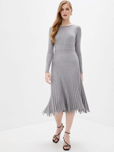 Платье прямое серое Imocean