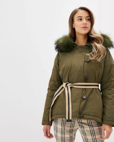 Зимняя куртка осенняя зеленая Neohit
